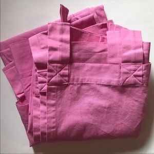 Pottery Barn Kids (2) Dark Pink Tab Top Curtains